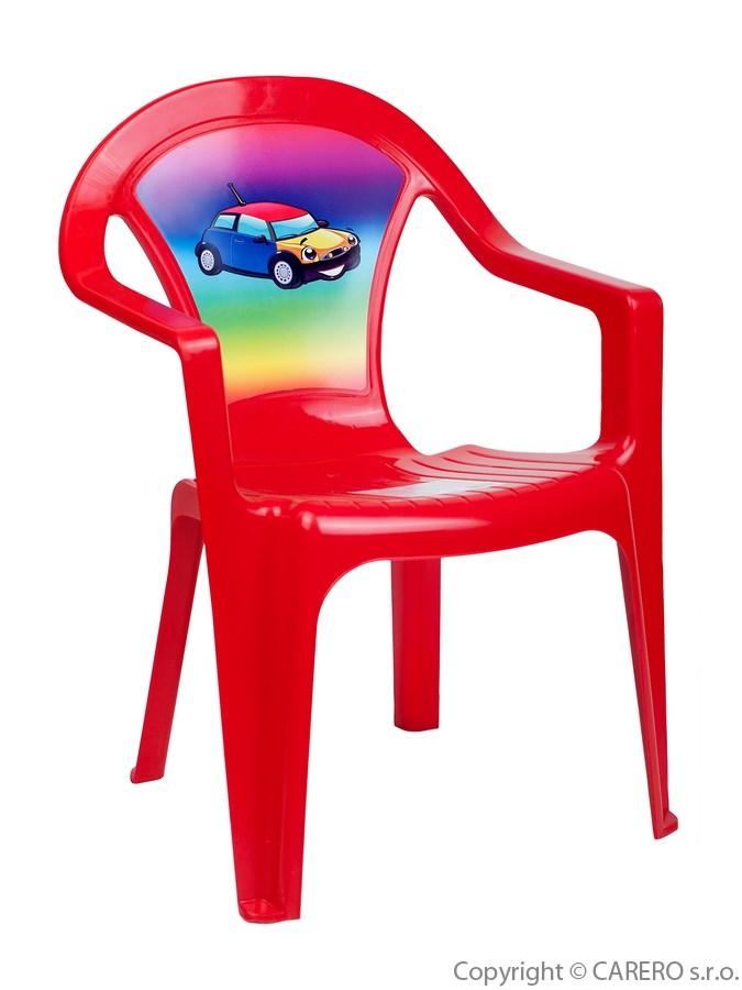 7c60b3859a2c Detský záhradný nábytok – Plastová stolička červená auto – Pidi Mini ...