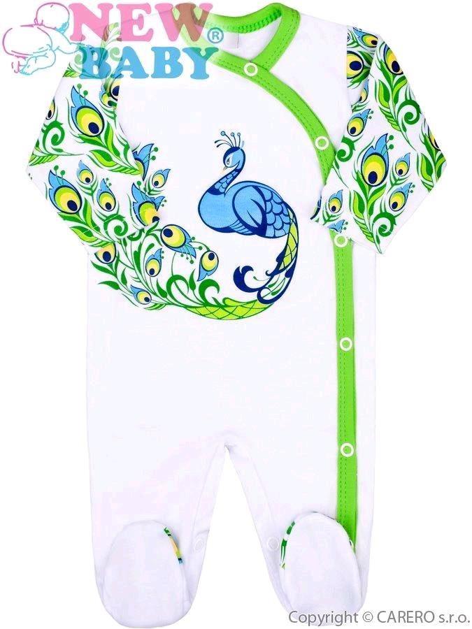 9bc232483 Dojčenský bavlnený overal New Baby z Luxusnej kolekcie Páv 68 (4-6m ...