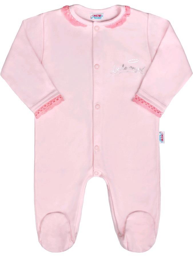 1c9a8855a Dojčenský bavlnený overal New Baby Angel ružový 74 (6-9m) – Pidi ...