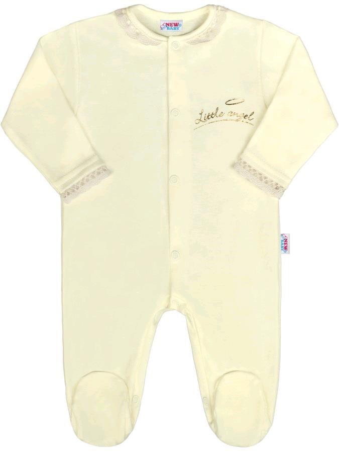 b4f34f989 Dojčenský bavlnený overal New Baby Angel béžový 74 (6-9m) – Pidi ...