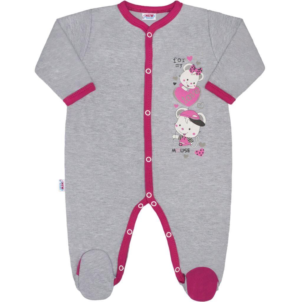 7b2d690f1 Detský overal New Baby Love Mouse 68 (4-6m). Home · Dojčenské oblečenie ·  Overaly · Dojčenské bavlnené overaly ...