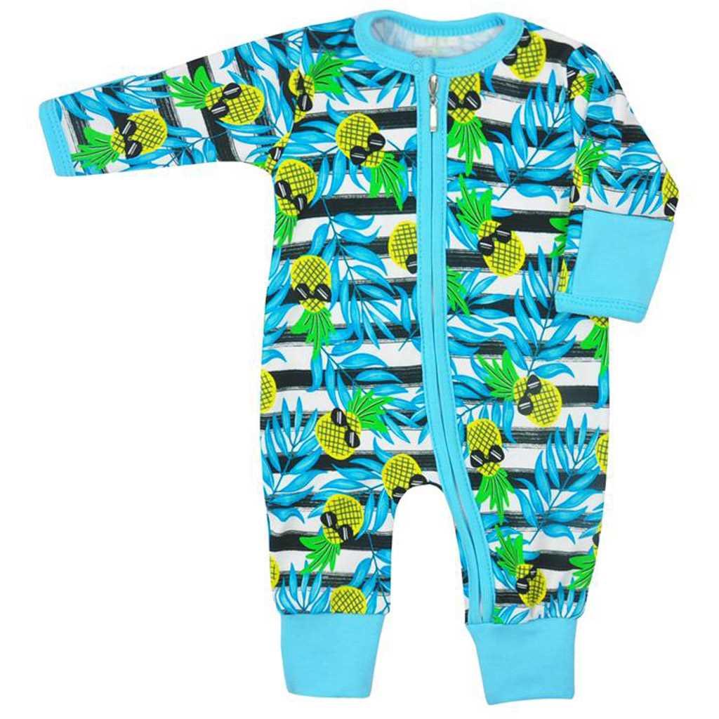 0e8aa1e5f Dojčenský overal Koala Tropical modrý 62 (3-6m). Domov · Dojčenské  oblečenie · Overaly · Dojčenské bavlnené overaly ...
