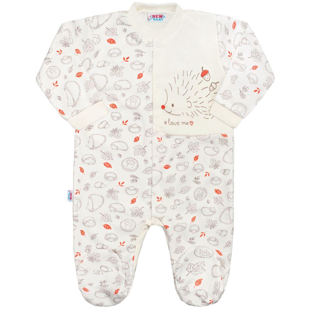 e23f64ceb Dojčenský bavlnený overal New Baby Hedgehog béžový 62 (3-6m) – Pidi ...