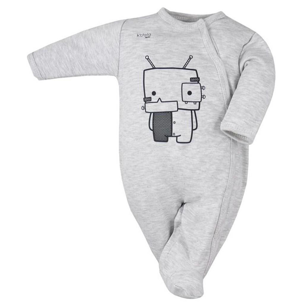 bfa4d8ef9 Dojčenský bavlnený overal Koala Robot sivý 62 (3-6m) – Pidi Mini ...